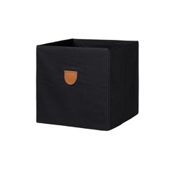 Regalbox ¦ schwarz ¦ Pappe, Polyester ¦ Maße (cm): B: 34 H: 34 T: 34