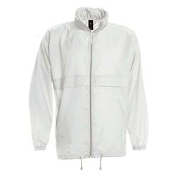 Damen und Herren Regenjacke | B&C weiß XL