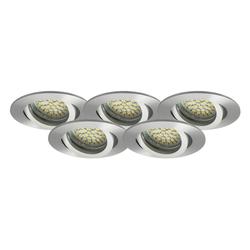 LED Einbaustrahler 5er-SET MR16, GU5.3, 12V, warmweiß, rund 5W Marken-LEDs
