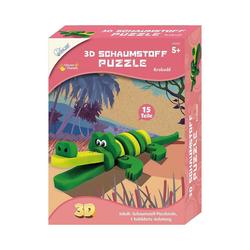 MAMMUT Spiel und Geschenk 3D-Puzzle 3D Schaumstoff Puzzle Krokodil, Puzzleteile
