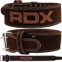 RDX 4PN Brauner 10mm Gewichthebergürtel (Größe: L, Farbe: Braun)