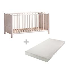 BioKinder - Das gesunde Kinderzimmer Babybett Feli, 70x140 cm mit Matratze
