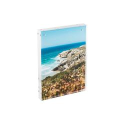 HMF Bilderrahmen BRM 469, für 1 Bilder, magnetisch, aus Acrylglas, 15 x 21 cm, Transparent