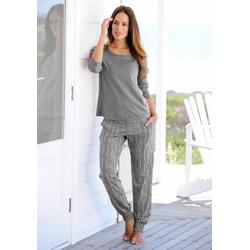 Buffalo Pyjama mit Ethno-Print grau 32/34