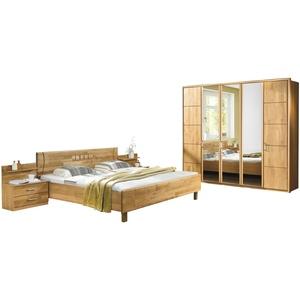 Woodford Komplett-Schlafzimmer 3-teilig  Belisa ¦ holzfarben ¦ Maße (cm): B: 256 H: 216 T: 58