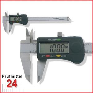 Digital Messschieber 150 mm mit Feststellschraube, Ablesung: 0,01 mm mit rundem Tiefenmaß