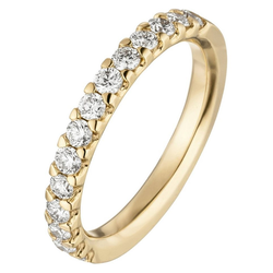 JOBO Diamantring, 585 Gold mit 14 Diamanten 58