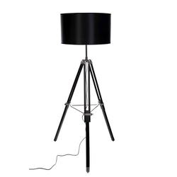 BIRENDY Stehlampe Riesige XXL Stativlampe Stehlampe im Dreibein Stativ Look Style, F702 schwarz