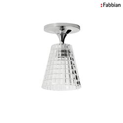 Fabbian FLOW Deckenleuchte 1XG9 Kristallglas klar FABB-D87E0100