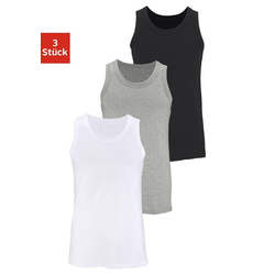 Unterhemd (3 Stück), aus Baumwolle bunt 6/L
