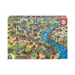 Educa Puzzle Puzzle London Map, 500 Teile, Puzzleteile
