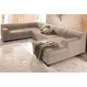 Home affaire Wohnlandschaft »Falk«, beige, 320cm, Recamiere rechts