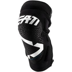 Leatt 3DF 5.0 Zip Motocross Knieschoner, weiss, Größe S M