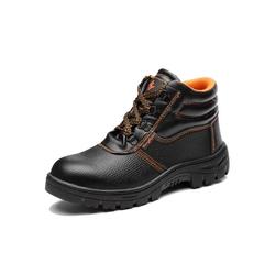 TOPMELON Sicherheitsschuh Arbeitsschuhe Leder Schnür-Stiefel Arbeitsstiefel mit Stahlkappe Anti-Smashing Anti-Piercing Atmungsaktiv Stahlkappenschuhe 40(250mm)