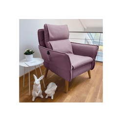 Sesselschoner, PLACE TO BE., Sesselschonbezug für Relaxsessel Insideout rosa