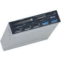 Akasa AK-ICR-16 interner Kartenleser USB 3.0, 3x USB 2.0 Hub) schwarz