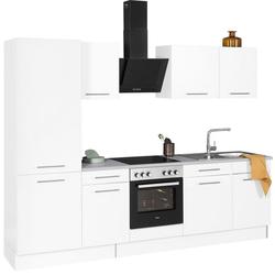 wiho Küchen Küchenzeile Ela, ohne E-Geräte, Breite 280 cm weiß