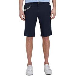 TOM TAILOR Shorts mit Schlüsselkette blau 40