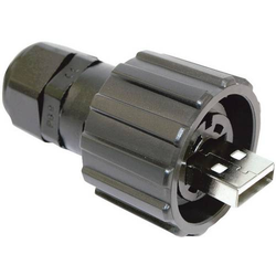 Conec USB 2.0 Stecker-Set - IP67 Stecker, gerade 17-200121 Bajonettverschluss 17-200121 Inhalt: 1St.