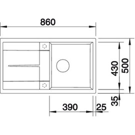 Blanco Metra 5 S perlgrau + Excenterbetätigung