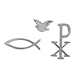 Rayher Klebemotiv Christliche Symbole silber 56 St.
