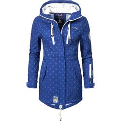 MARIKOO Damen Funktionsmantel 'Zimtzicke' blau / hellblau, Größe XS, 4279339