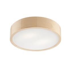 Licht-Erlebnisse Deckenleuchte ARBARO Runde Deckenleuchte Holz Braun Wohnzimmer Flur Esstisch Lampe