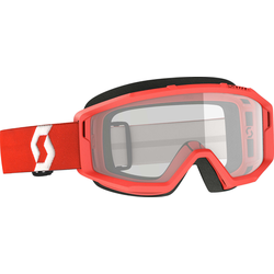 Scott Primal Clear rote Motocross Brille Rote Motocross-Brille, rot
