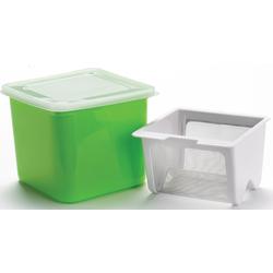 Cuisipro Küchensieb Frischkäsebereiter, Kunststoff, Edelstahl grün