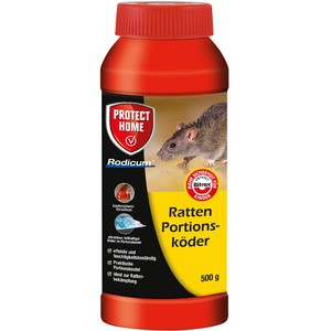 PROTECT HOME Rodicum Ratten Portionsköder 500g vorportionierte Rattenköder, 500 g