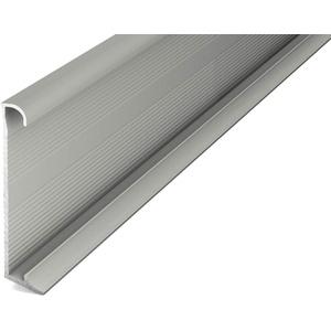 Prinz Aluminium-Sockelleiste m. Einschub Nr. 379, 13x60mm, 270cm - Titan