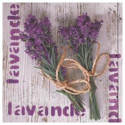 Linoows Papierserviette 20 Servietten, Lavendel, gebundene Lavendelsträuße, Motiv Lavendel, gebundene Lavendelsträuße