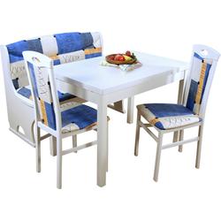 Essgruppe Madrid, (Spar-Set, 4-tlg., 1 Sitzbank, 1 Esstisch, 2 Stühle), 4-teilig blau