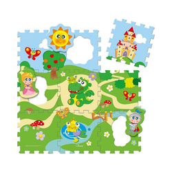 Chicco Puzzlematte Puzzlematte Schloss 9-tlg., Puzzleteile