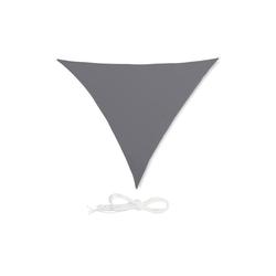relaxdays Sonnensegel Sonnensegel Dreieck grau 250 cm x 0.5 cm x 300 cm