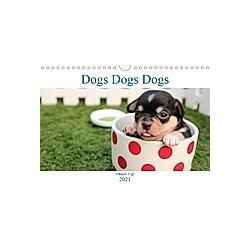 Dogs Dogs Dogs (Wall Calendar 2021 DIN A4 Landscape) - Kalender
