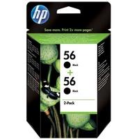 HP 56 schwarz 2er Pack (C9502AE)