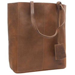 Gusti Leder Shopper Cassidy, Handtasche Ledertasche Henkeltasche Laptoptasche braun