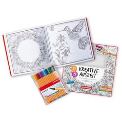 Fineliner + Malbuch STABILO Kreative Auszeit: Blüten und Mandala