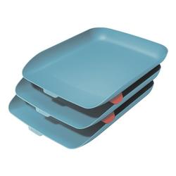 Briefkorb »Cosy« 3er-Set blau, Leitz, 27.4x12 cm