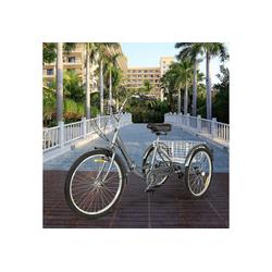 Zehnhase Dreirad Erwachsene 20 Zoll, 7 Gang, (1 x Dreirad), klappbar mit Einkaufskorb