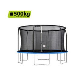 Trampoline de jardin Freestyle Bleu 430 fitness extérieur Ø 427cm - Filet de sécurité/coussin de