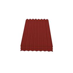 Onduline Wellplatte Onduline Easyline Dachplatte Wandplatte Bitumenwellplatten Wellplatte 3x0,76m² - rot, Wellig, 2.28 m² pro Paket, (3-St)