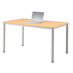 """Tisch """"Base"""" 120 x 80 cm, alusilber, Buche funiert HE UV-lackiert"""