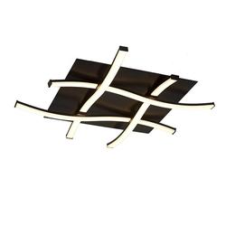 Mantra Deckenleuchte Nur quadratische LED-Deckenleuchte schwarz