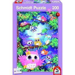 SCHMIDT systemprofile Puzzle Im Eulenwald. Puzzle 200 Teile, Puzzleteile