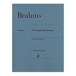 51 Übungen für Klavier. Johannes - 51 Übungen für Klavier Brahms  - Buch