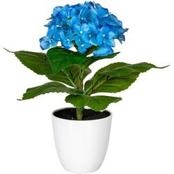 Künstliche Zimmerpflanze Leana Hortensie, my home, Höhe 40 cm blau