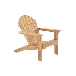 Raburg Gartenstuhl ADRIA Premium Light in NATUR - Akazie Hartholz, geölter XXL Design-Gartenstuhl Canadian Adirondack Deck-Chair / Hamburger Alsterstuhl