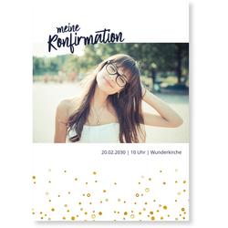 Einladungskarten Konfirmation (10 Karten) selbst gestalten, Meine Konfirmation - Weiß